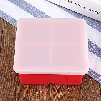 Kaxima Silicona, cajas de comida para bebés, cajas de bocadillos, cubiertos bebé, nítida, congelador, caja de almacenamiento de alimentos, 11.5x11.5x5cm: ...