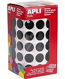 APLI Rouleau de 2832 Gommettes Rondes 15 mm Noir