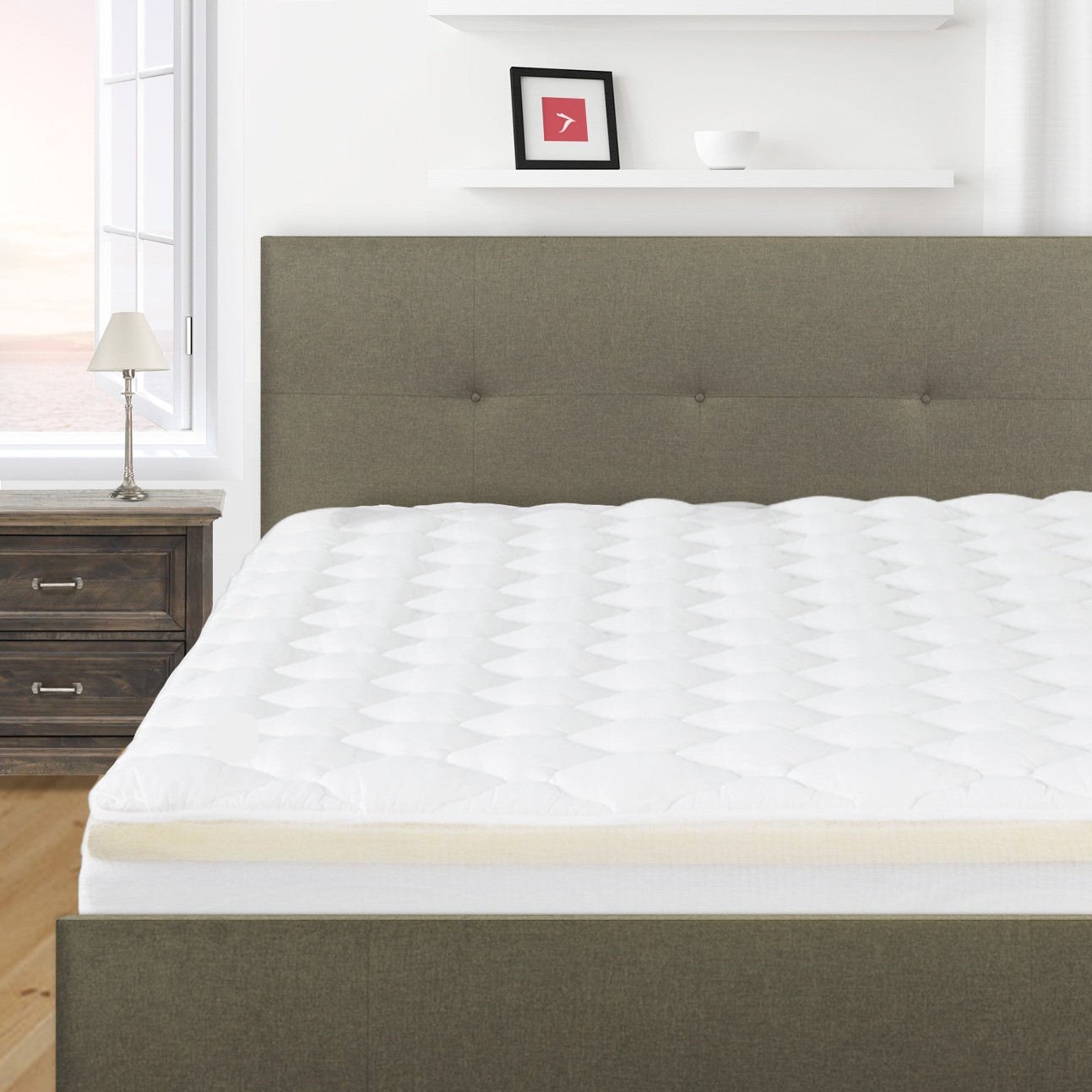 Overfilled and Double Thick Pillow Top Mattress Pad, California King