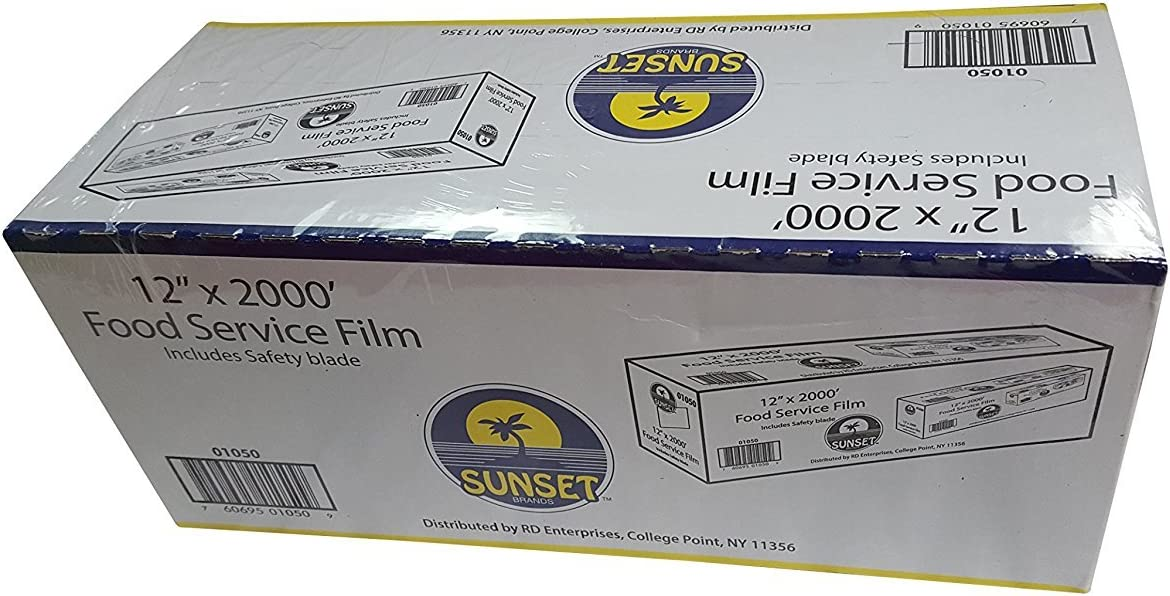 Sunset Food Service Plastic Film Wrap - 12 x 2000 - Includes Safety Blade