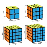 Dreampark Speed Cube Bundle [4 Pack] 2x2x2 3x3x3