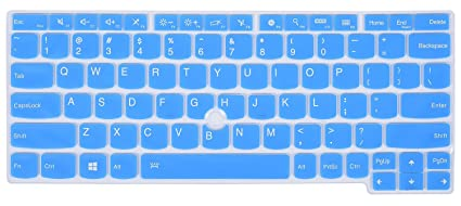 Keyboard Silicone Cover for Lenovo Yoga 260, Yoga 370, ThinkPad X230S X240 X240S X250 X260 X270 X280, Thinkpad X380 Yoga Laptop, Blue