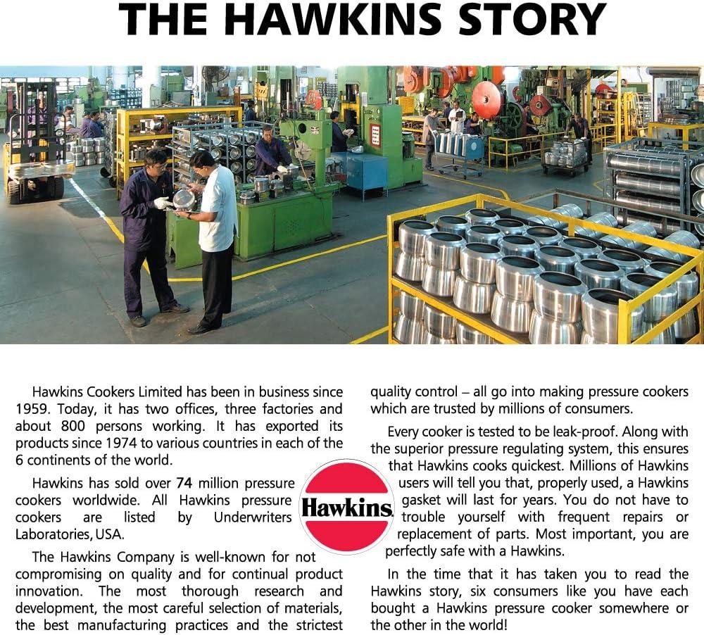 Hawkins CB65 Hard Anodised Pressure Cooker 6.5-Liter Contura Black