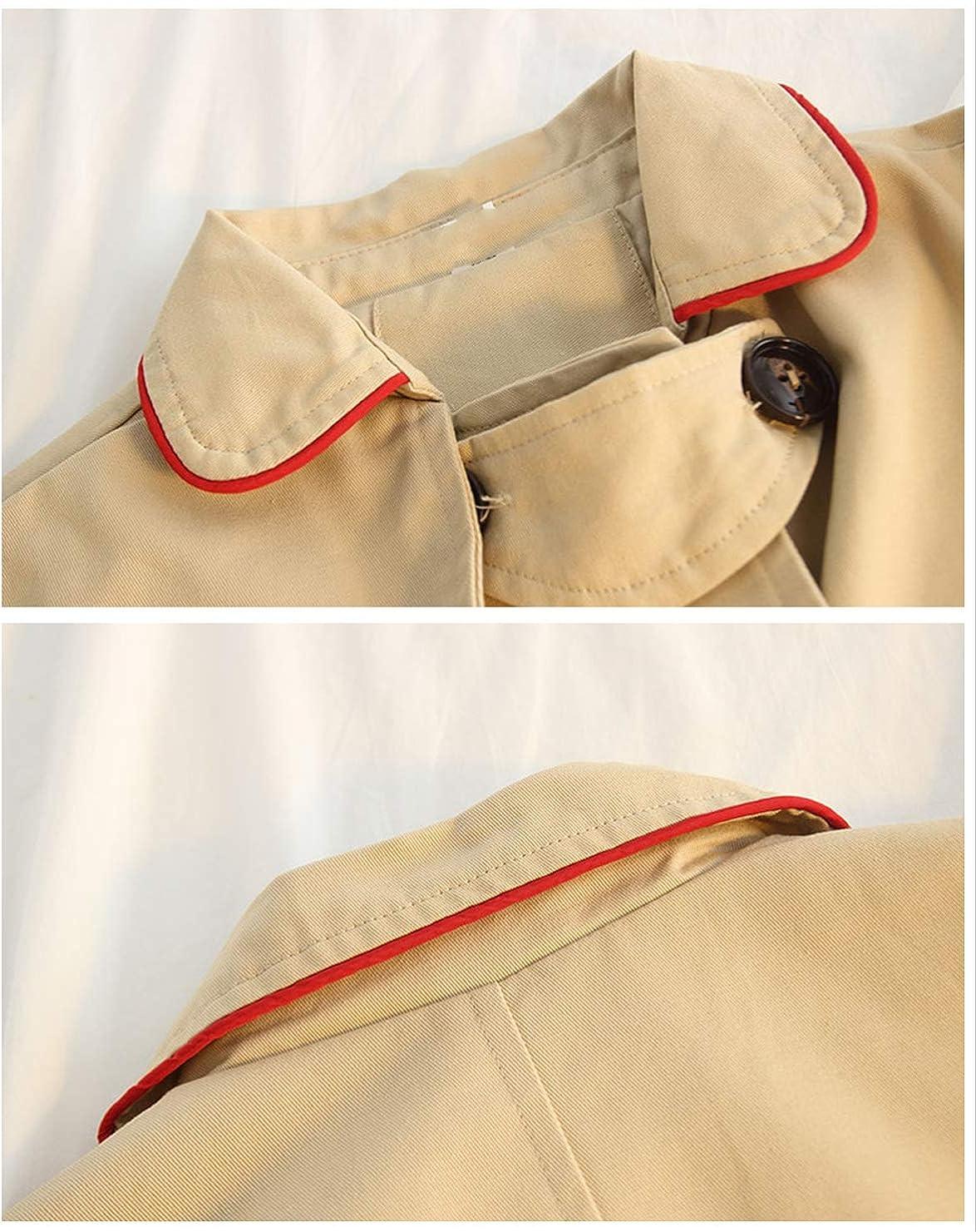KIMJUN Baby Girls Trench Jacket Coat Toddler Kid Windbreaker Double Breasted Outerwear 2-7t