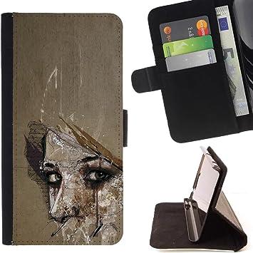 la tarjeta de Crédito Slots PU Funda de cuero Monedero caso cubierta de piel HTC One X9 , (Profundo Significado Mujer Maravilla aspecto Ojos) : Amazon.es: Electrónica