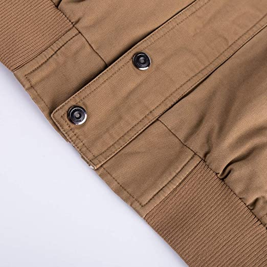 c9b5bb17c72 Ansenesna Abrigo Hombre Invierno Largo Talla Grande Sudadera Escudo  Transpirable Outwear TáCtico del Bolsillo De La ...