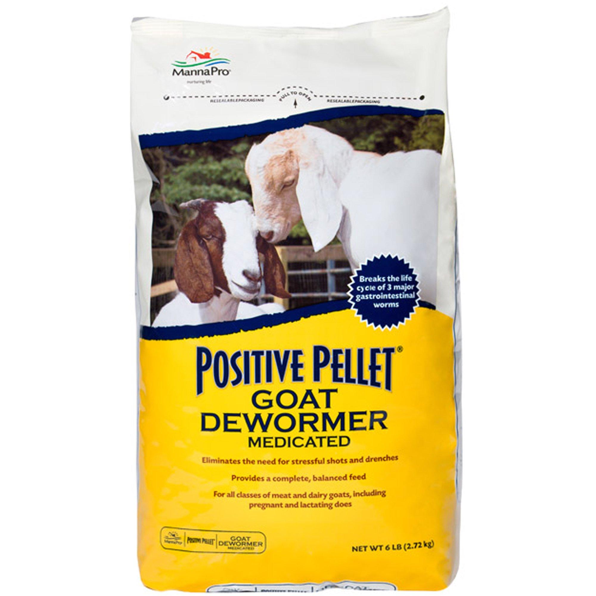 Manna Pro 1000327 Medicated Dewormer, 6-Pounds Positive Pellet Goat, 6 Pound by Manna Pro