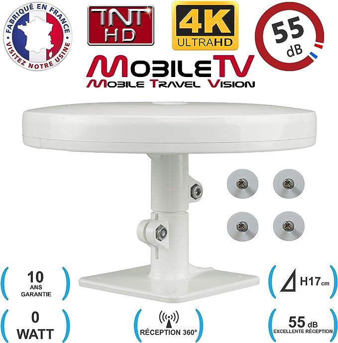 Antena TV HD 4K Ultra HD OmniDirectional 55dB TDT DTV con pies MAGNÉTICOS - Camper / Truck / Caravana / Camion / Van - Omni PRO PLUS MobileTV - ...