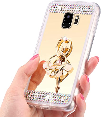 QPOLLY Miroir de Maquillage Housse Compatible avec Samsung Galaxy ...