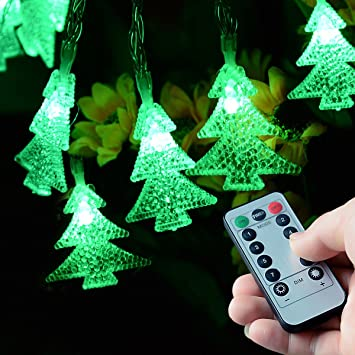 Homeleo 50 LED Christmas Trees LED Fairy Lights with Remote Control,  Battery Powered Little Xmas - Amazon.com : Homeleo 50 LED Christmas Trees LED Fairy Lights With