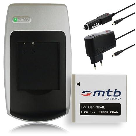 Batería + Cargador NB-4L para Canon IXUS 30, 40, 50, 55, 60, 65, 70, 75 (ver descripción)