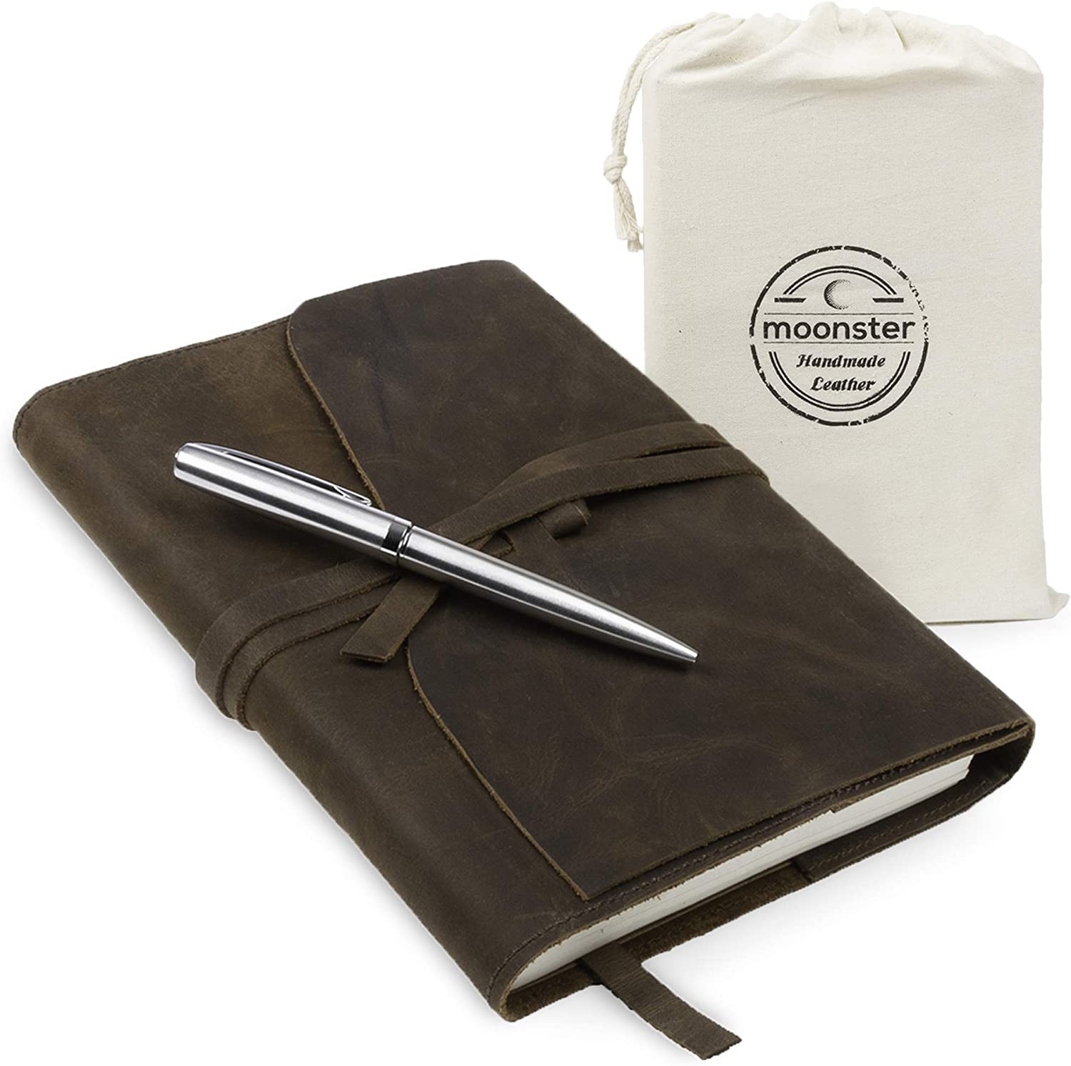 Refillable leather travellers journal - ideal travellers gift