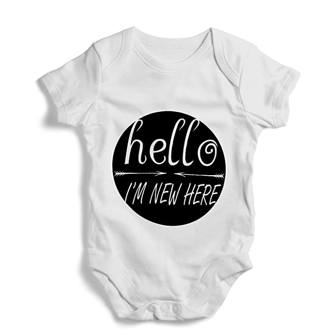 9a8f78a06 Amazon.com  Hello i m new here - Onesie