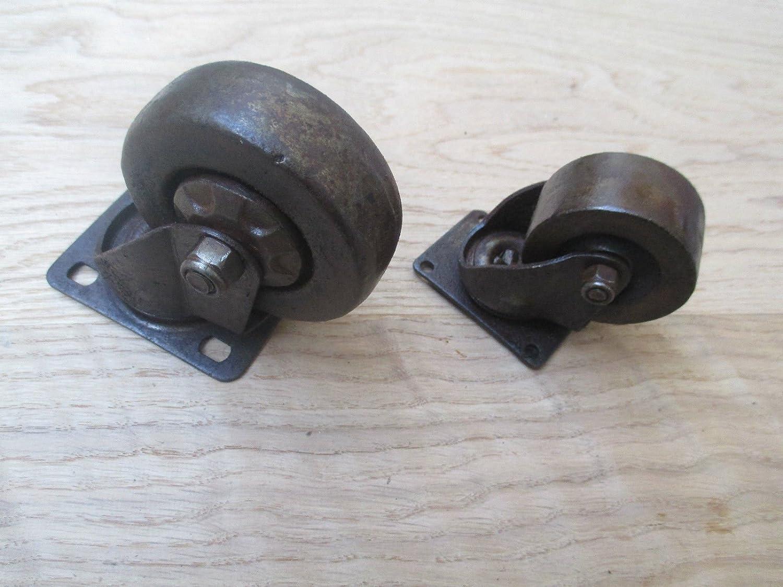 Rueda giratoria de hierro fundido de Ironmongery World/® para mobiliario industrial dise/ño antiguo y r/ústico 3 LARGE