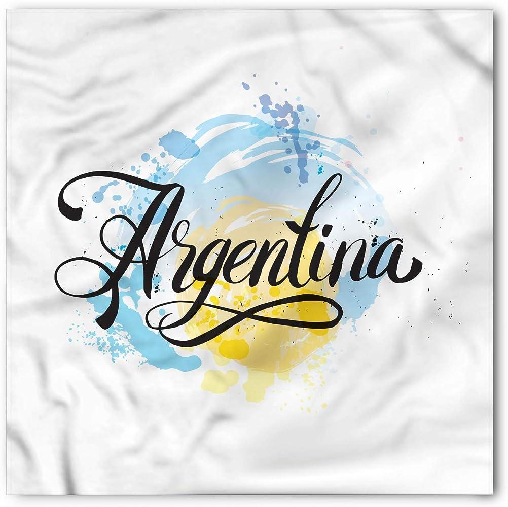 Soefipok Pañuelo argentino, sol naciente en acuarela, cabeza y ...