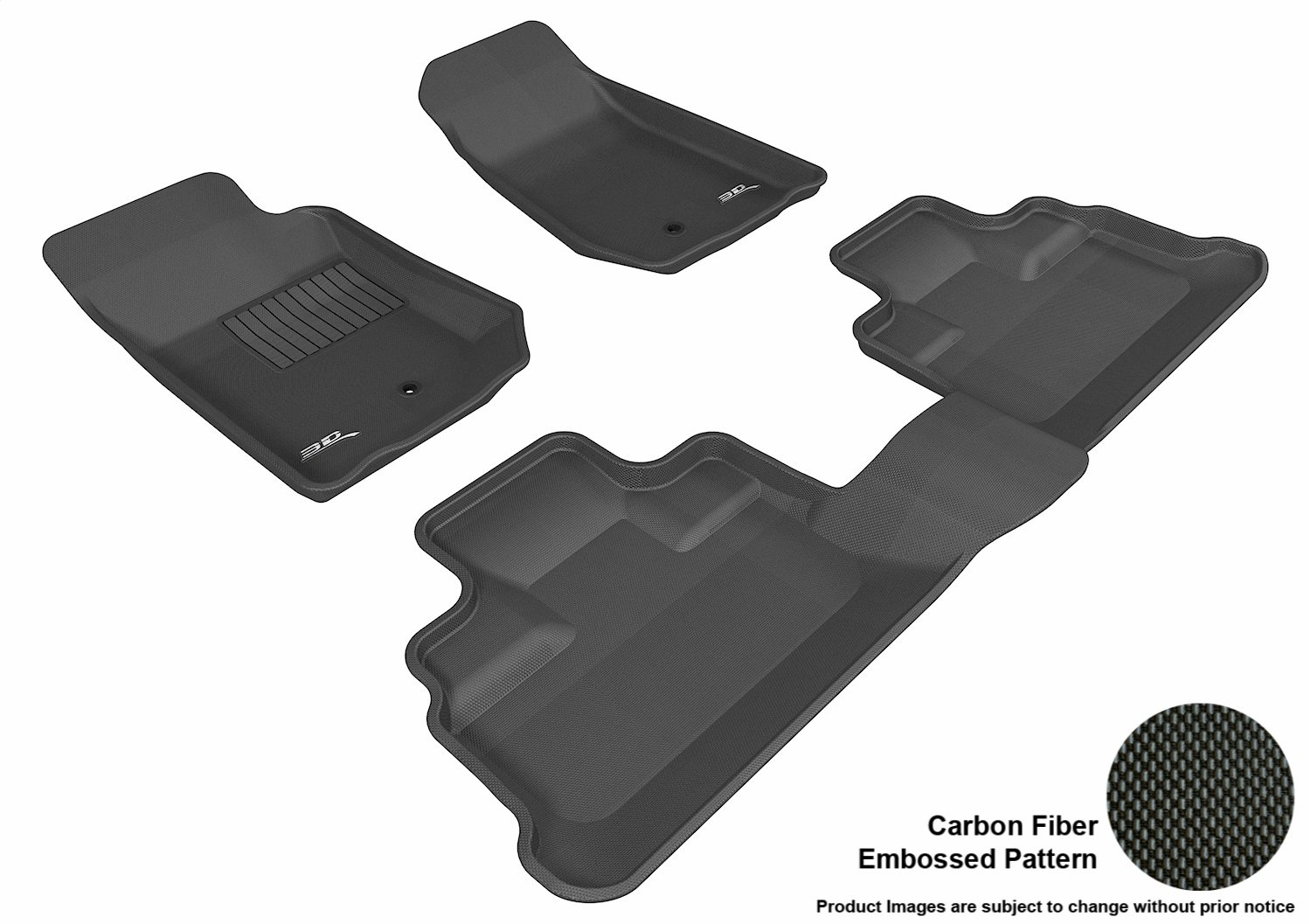 Tan 3D MAXpider Second Row Custom Fit All-Weather Floor Mat for Select Jeep Wrangler Models Kagu Rubber