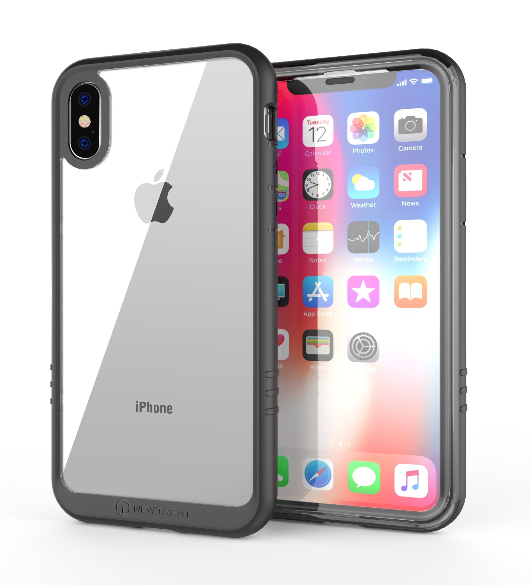 New Trent iPhone XS Case (2018) / iPhone X Case (2017) New Trent Azure Full-Body Transparent Protection Case with Built-in Screen Protector for Apple iPhone XS 5.8 inch (2018)