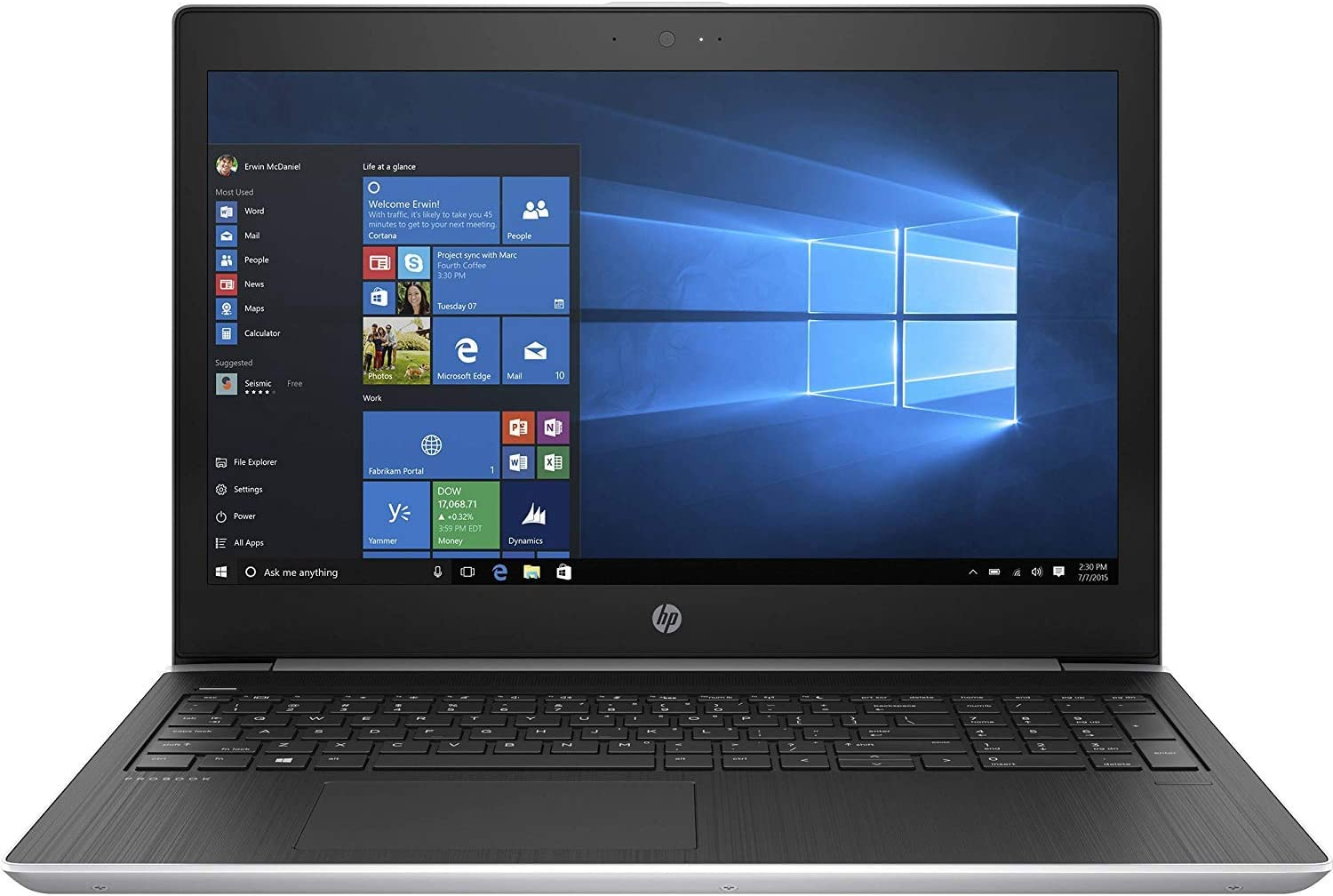 "HP 2019 Newest hp probook 450 g5 15.6"" Anti-Glare hd Business Laptop (Intel Quad core i5-8250u, 8gb ddr4 ram, 500gb HDD,uhd 620) Type-c, WiFi ac, Webcam, hdmi, vga, Windows 10 Home, 2.6 Pound"