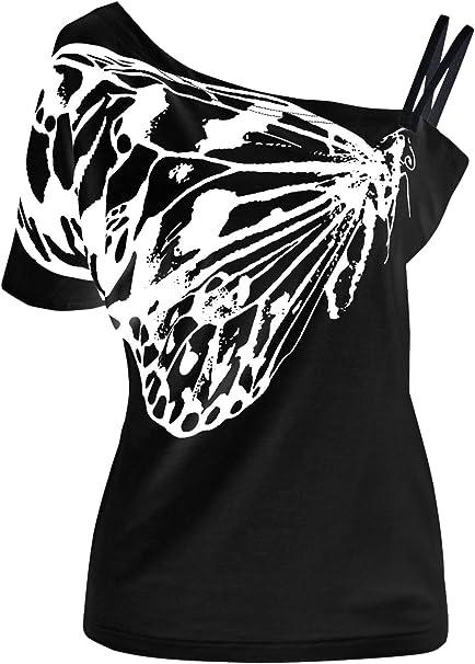 Kiwi Moda Hermosa Mariposa Camiseta Impresa del arnés sin Tirantes ...