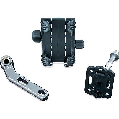 Kuryakyn 1788 Motorcycle Accessory: Clutch/Brake Perch Mount Tech-Connect Cradle GPS Device/Phone Holder Mounting Kit, Standard, Chrome: Automotive