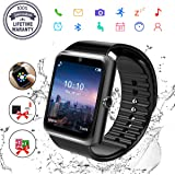 Smart Watches, Bluetooth Smartwatch Fitness Tracker Wrist Watch Waterproof with Camera SIM Card Slot Sports Smart Watch for Samsung Android Huawei Sony iPhone for Men Women Kids