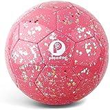 PP PICADOR Soccer Ball Kids, Glitter Shiny Sequins Toddler Soccer Balls for Girls Boys Child 4-6 Gift Training Outdoor Backya