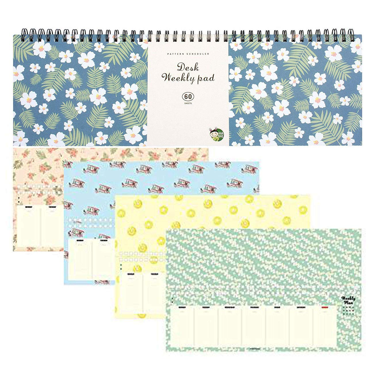 Weekly Planners Pad - Weekly and Daily Planning Keyboard Paper Pad 13inch to 4inch by Hashi