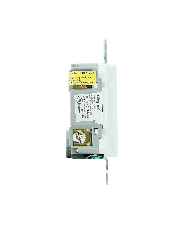PASS & SEYMOUR 1597TRAWCC4 15A 125V Decorator Tamper Resistant Self Testing GFCI Receptacle - - Amazon.com
