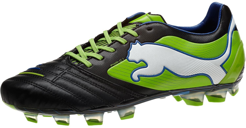 PUMA Men's Powercat 1 FG Soccer Cleat B008M7QKC0 7.5 M US|Black/Jasmine Green/Monaco Blue