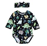 YOUNGER TREE Infant Baby Girl Dinosaur Plant Romper
