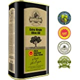 Ellora Farms | Certified PDO Extra Virgin Olive Oil | Single Variety Koroneiki Olives | Cold Press & Traceable Olive Oil | Born in Ancient Crete, Greece | Kosher | 1 Lt Tin, total 33.8 oz.