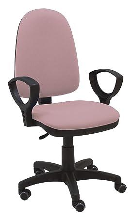 La Silla de Claudia - Silla escritorio y oficina Torino color Rosa Palo. Silla oficina ergonómica con reposabrazos. Asiento y respaldo regulables. ...