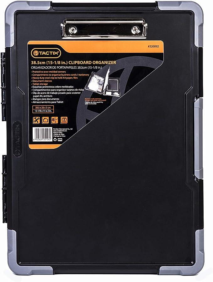 Tactix 320092 Jobsite Contractor Clipboard, Black