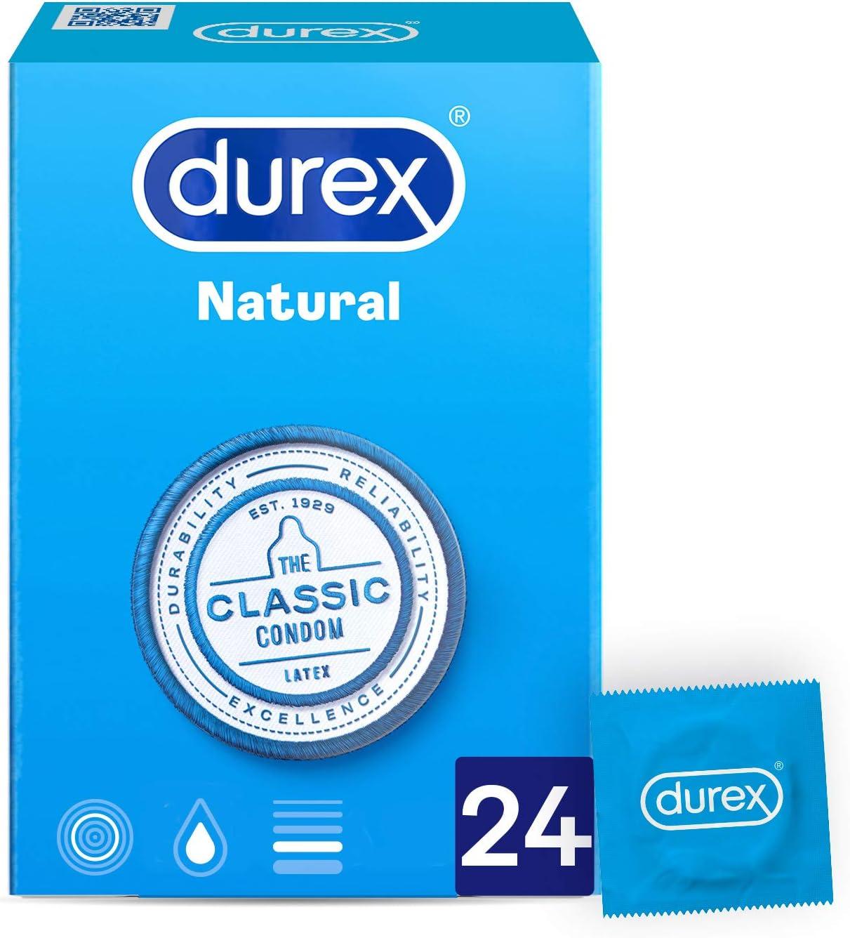 Durex Natural Comfort Preservativos Original 24 Unidades: Amazon.es: Salud y cuidado personal