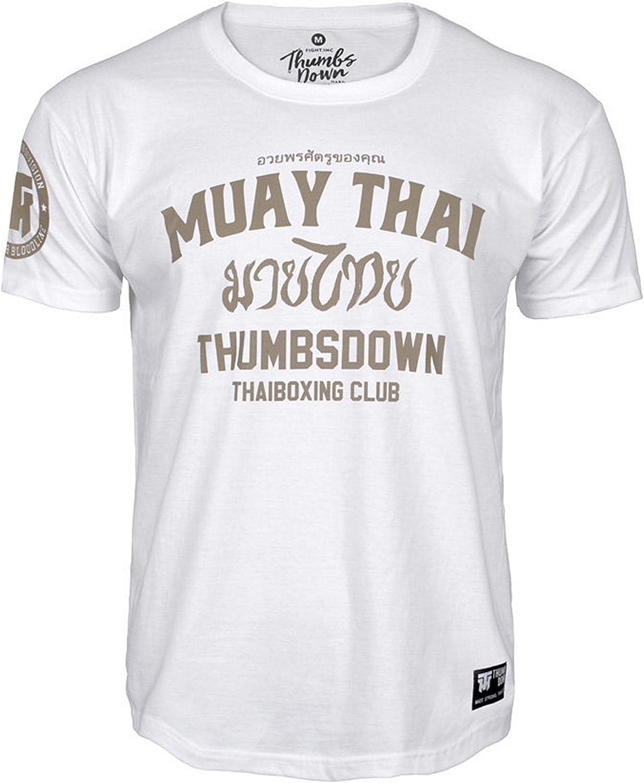 Muay Thai Thaiboxing Club Martial Arts Thumbs Down Homme T-Shirt Casual