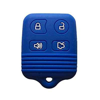 KAWIHEN Silicone Key Fob Cover Case Protector Smart Remote Control Shell Keyless Entry Case Holder Cover For Ford Mustang Edge Escape Expedition Explorer Focus Escort Lincoln Mercury CWTWB1U331: Automotive