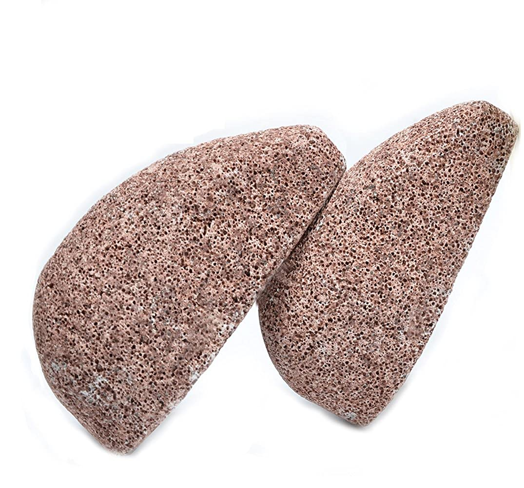 2 Pcs Pumice Stone Feet Care - Horsky Callus Remover Natural Skin Care Product for Dry Dead Hard Foot Hands Face Body Cracked Heel AC0001XX
