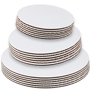 Set of 18 - Cake Board Rounds, Circle Cardboard Base, 6, 8 and 10-Inch. Perfect for Cake Decorating, 6 of Each Size