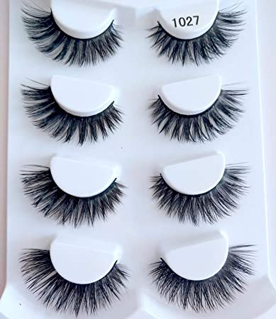 Amazon com : Doctag paradise 4pairs 3D Mink Lashes Natural