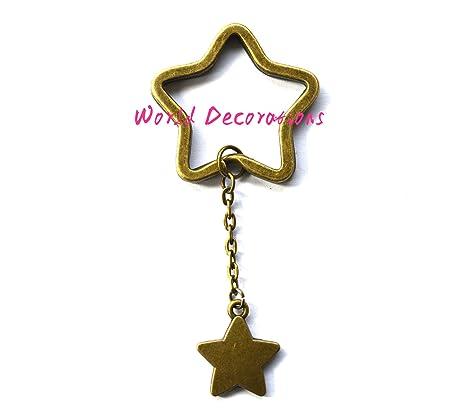 Star llavero, Bronce Star llavero, llavero de bronce ...
