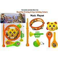 Vibgyor Vibes Lovely Mixed Attractive Colourful Music Playset Cum Rattles for Babies, Toddlers, Infants, Child . Set of 7