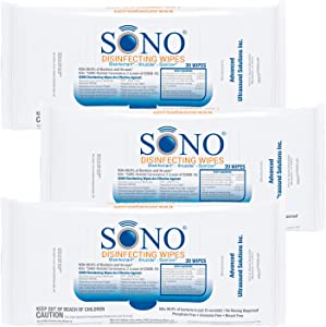 SONO Healthcare - Medical-Grade, Alcohol-Free, Travel Disinfecting Wipes - 3 Pack, 20ct.