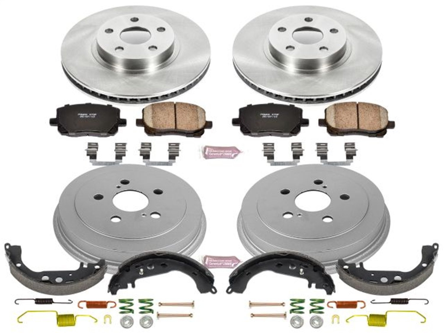 Power Stop Front & Rear KOE15200DK Autospecialty Daily Driver Pad, Rotor, Drum and Shoe Kits