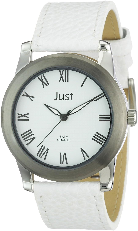 Just Watches 48-S10122-wh - Reloj analógico de Cuarzo para Hombre, Correa de Cuero Color Blanco
