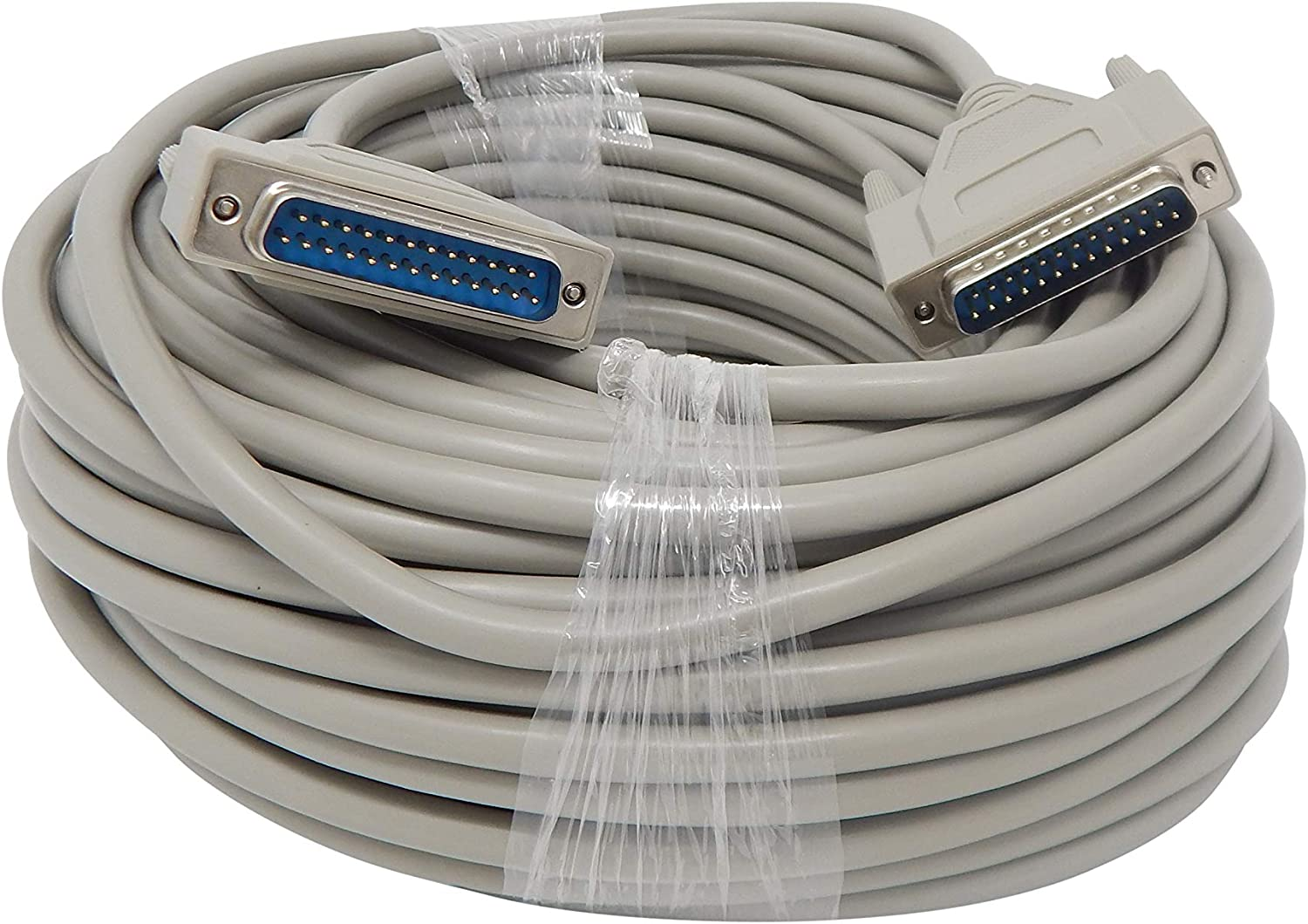 50ft 25 Pin Male to 25 Pin Male Serial Parallel Printer Extension Cable