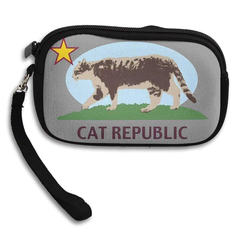 Amazon.com: Monedero con cremallera para gato repúsico con ...