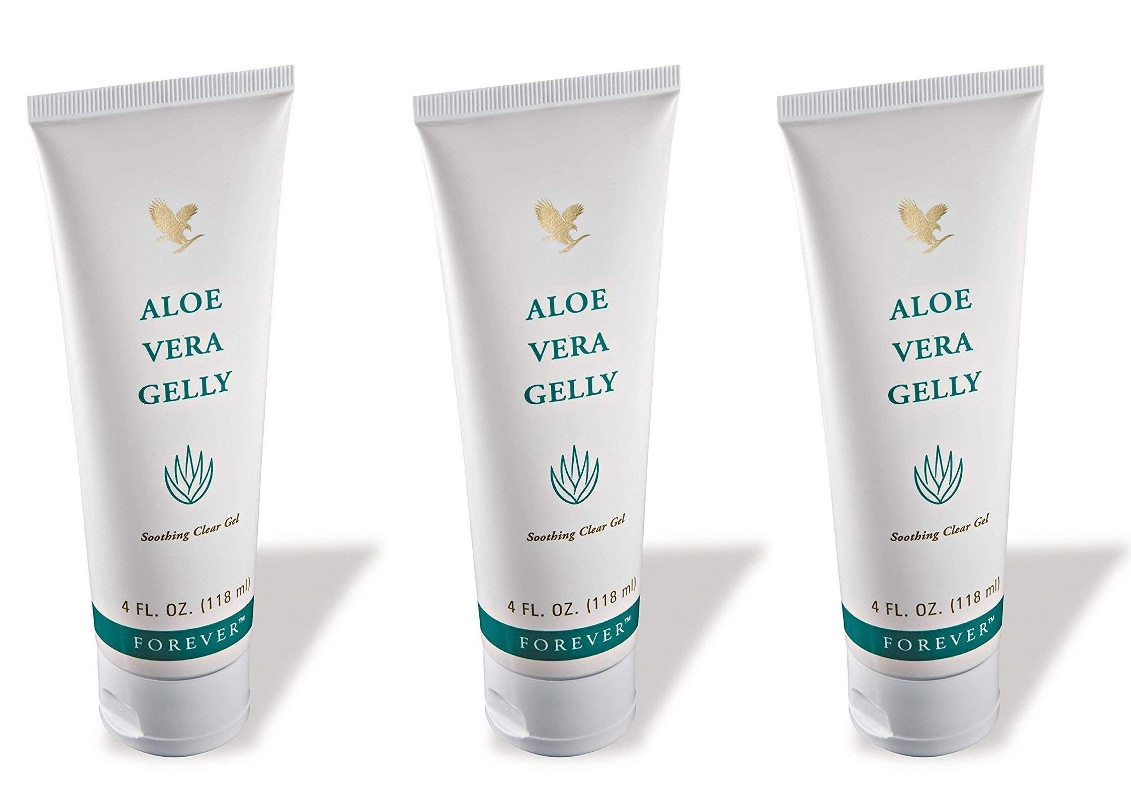 Forever Living Aloe Vera Gelly, 4 Fl. Oz,100% stabilized aloe vera gel (3 Pack) by Forever Living