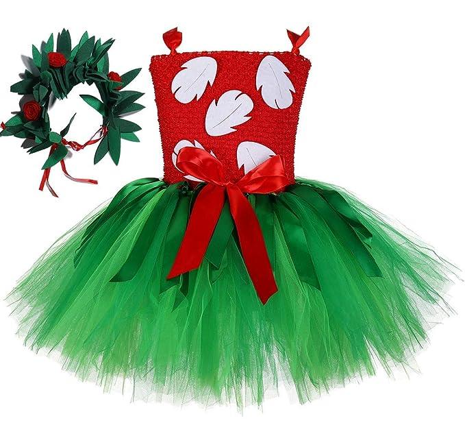 Amazon.com: Disfraz de Lilo para niña, hecho a mano, fiesta ...