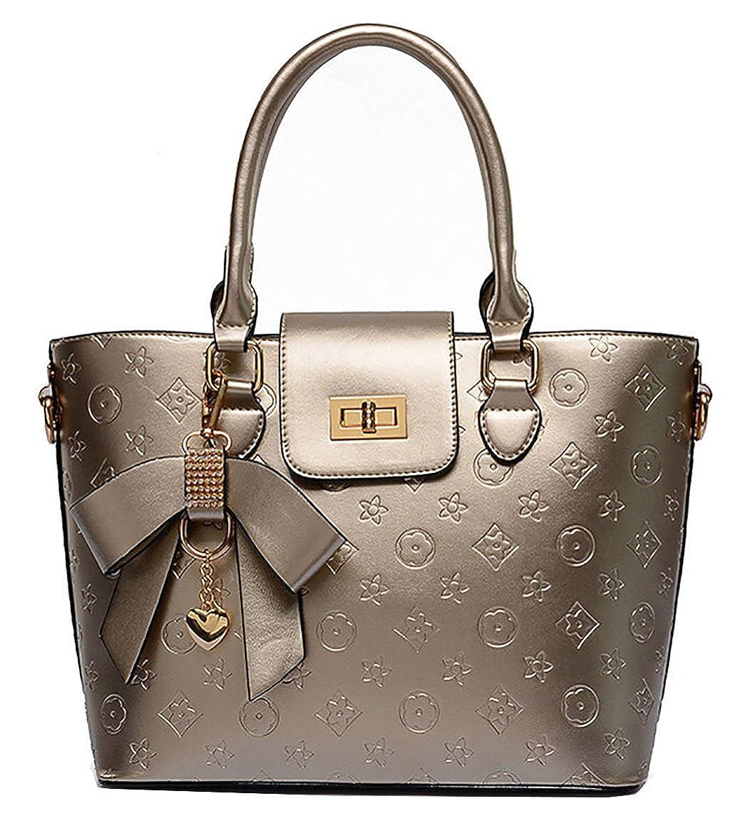 Sac à main de mode avec le charme de sac à main de conception de fleur et serrure en métal Sac à main en cuir d'unité centrale pour des femmes