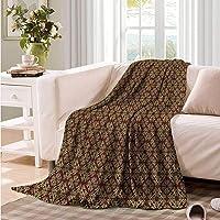 Blanket Custom Photo Burgundy Oriental Mandala Motifs Throw Blanket Adult Blanket